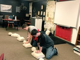 Cache HS Seniors learn CPR