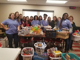 37 Thanksgiving Baskets Filled