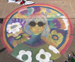 CHS Participates in Chalk Art Festival