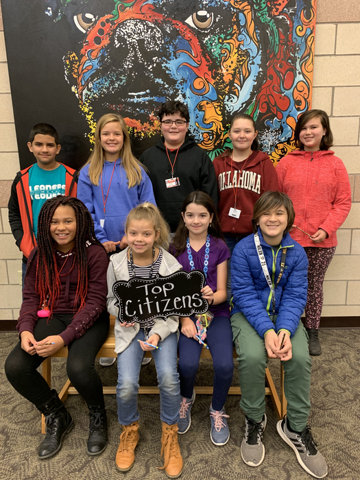 Top Citizens RJ Rivera. Rylee Kruse, Chase Carbone, Summer Jacks, Mikaela Bimberg, Brejanay Stone- Jordan, Lilly Harris, Jazzy Slaton, And Tyler Wofford. Not pictured: Dean Ray and Lily Pekah.