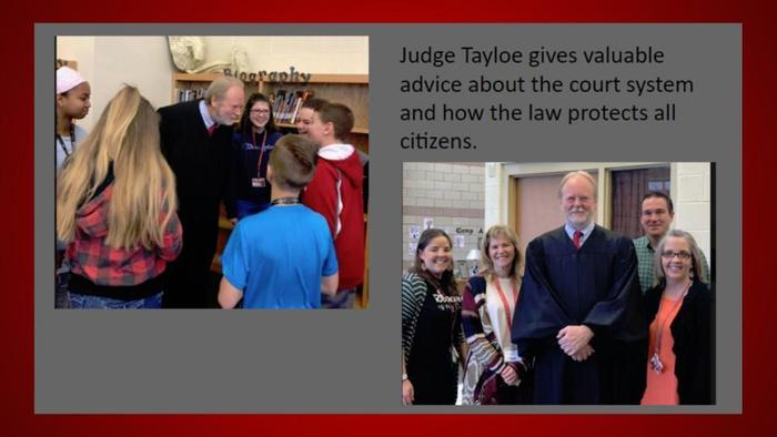 Visit with Judge Tayloe