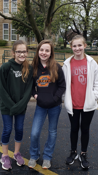 Maggie Gladwell, Evie Fisher, and Abigail Daughtery
