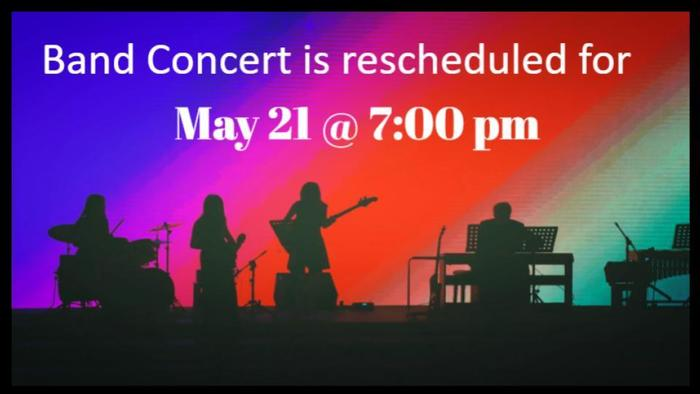 Rescheduled Band Concert