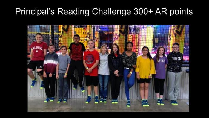 Principal's Reading Challenge 300+ AR points
