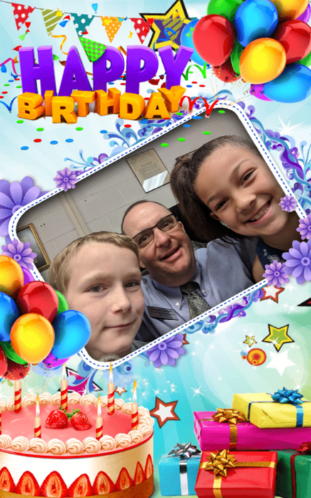 Happy birthday Kinsley Devours and Kalib McFarland! #bdayselfie